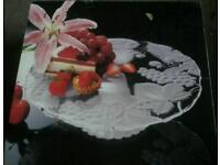 Sogo cake stand glass cake stand