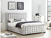SAMEDAY DELIVERY 7 DAYS A WEEK Brandnew Boxed Top Quality CRUSHED VELVET Double Bed Mattress Option