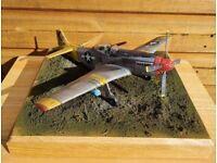 WW1 & WW2 MODEL AIRCRAFT DIORAMAS (prices in description)