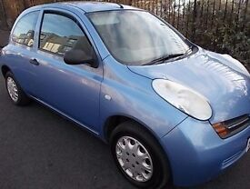 Nissan Micra 1.2 s 04 reg.Lovely clean reliable economical 3dr car.Tax & Motd July 2017