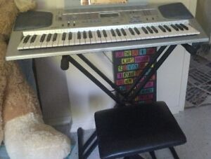 Casio Electronic Keyboard/ Stand and Stool