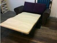Ex display sofa bed in brown and purple only £130