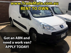 **RENT TO OWN** $162 p/w 2008 Peugeot Partner van, 6 speed manual Melbourne CBD Melbourne City Preview