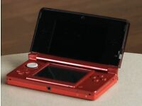 Nintendo Handheld Console 3DS - Metallic Red with charger and 2 games/ for sale or swap