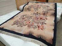 150 x 230 cm Floral Rug Beige Fringe Used Household Carpets Flooring