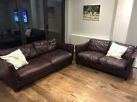 2 seater and 3 seater sofa - Beautifully aged