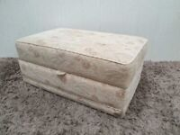 Ottoman Storage Upholstered Floral Fabric Used Bedroom Furniture