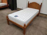 Single 3ft Bed Pine Wooden Slats Mattress Used Bedroom Furniture