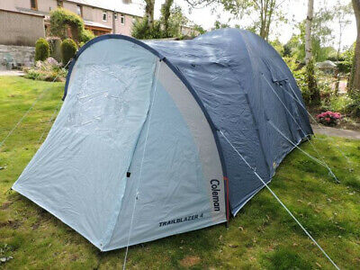 Coleman Trailblazer 4 Man Tent Blue. Used but good condition