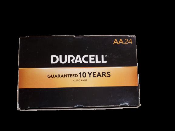 Duracell CopperTop Alkaline Batteries Technology AA - NEW FRESH DATES 24/bx