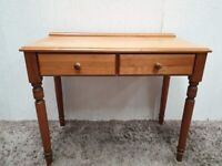 Dressing Table Pine Carved Legs Drawers Wooden Knobs Used Bedroom Furniture