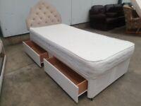 Single 3ft Bed Drawer Base Wheels Mattress Headboard Used Bedroom Furniture