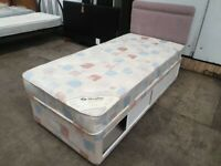Single 3ft Bed Sliding Door Wheeled Base Mattress Headboard Sleepline Used Bedroom Furniture