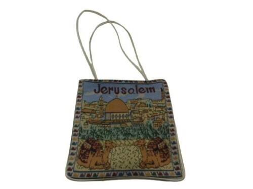 Israel Jerusalem Tapestry Souvenir Holy Land Purse Tote Camel Border Design
