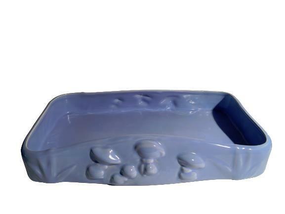 Vernon Kilns Walt Disney Fantasia #120 Mushroom Bowl Dish Blue Vintage Pottery