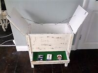 Rare Vintage Card / Games Cabinet / Table - Shabby Chic - up-cycled in white chalk paint & varnish