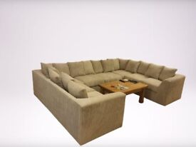 High Quality Brand New Ushape Corner Sofa With Home Delivery £599
