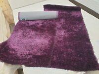 2 x Purple Shaggy Rugs Used Carpets Flooring