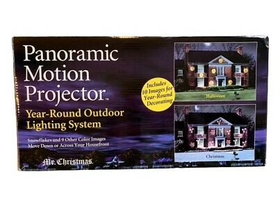 Mr Christmas Panoramic Motion Projector Rare YEAR ROUND Light Show Decoration ()