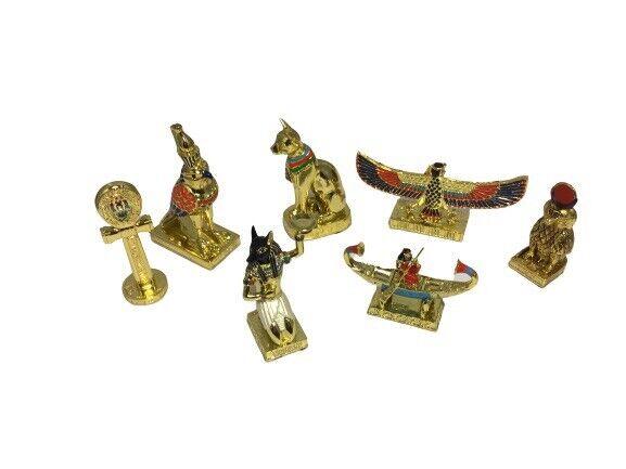 Egyptian Figurines Gods Miniature Bastet Horus Babi Anke Kahfu Ship Phoenix