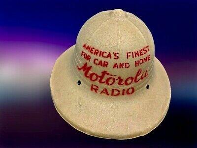 ONE OF A KIND VINTAGE MOTOROLA RADIO ADVERTISING STORE DISPLAY HELMET FROM 1935