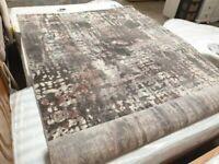 2 x 3 m Turkey Rug 6ft 6in x 9ft 6in Grey Rose TORINO Used Carpets Flooring