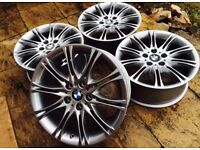 """FULLY REFURBISHED 18"""" BMW MV2 ALLOY WHEELS - STAGGERED IN FITMENT - GRAB A BARGAIN!"""