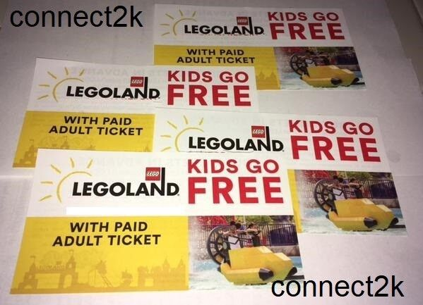 Купить KID CHILD GO FREE w/paid Adult Legoland Florida Email Code in MINS Exp 12/31/18