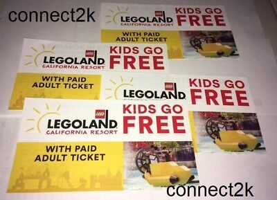 KID CHILD GO FREE w/paid Adult Legoland CALIFORNIA Email Code in MINS 6/30/2020