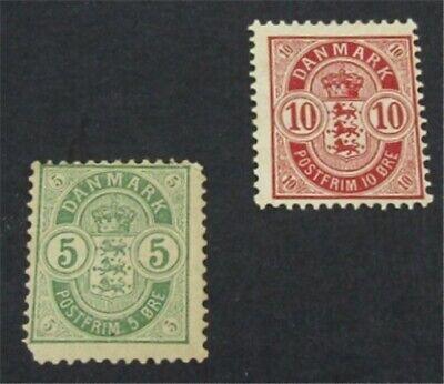 nystamps Denmark Stamp # 38.39 Mint OG H $35   L23y200