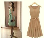 Knee Length Chiffon Skirt