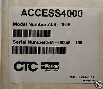 Ctc Parker Als-1516 Access 4000 Hmi  Sealed