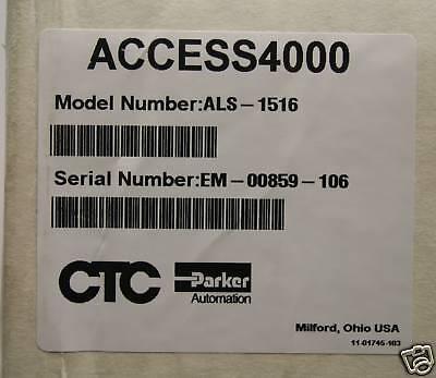 Ctc Parker Als-1516 Access 4000 Hmi  Sealed