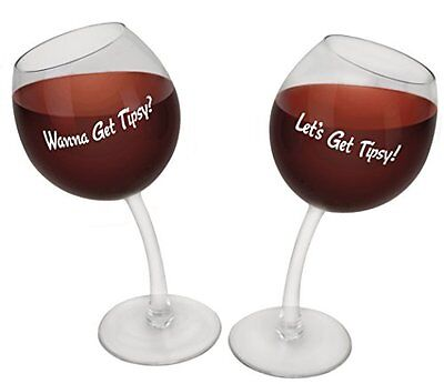 Big Mouth Toys BMWG-TP Tipsy Wine Glasses, ...