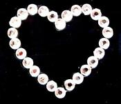 Self Adhesive Heart Gems