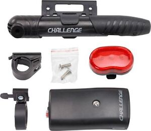 Challenge-Bike-Cycle-Starter-Accessory-Pack-Inc-Front-Rear-Lights-Lock-Pump
