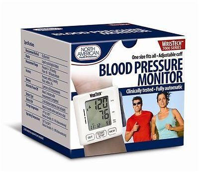 Wrist Blood Pressure Monitor Automatic Wristech 7000 Bp Helath Adjustable Memory