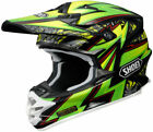 Green Motocross Shoei Helmets