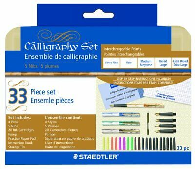 Staedtler 5 Nib Calligraphy Pen Set - Extra Fine, Fine, Medium, Bold, Extra Bold