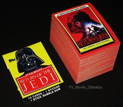 STAR WARS RETURN OF THE JEDI S1 © 1983 Topps ROTJ Complete 132 Card Set +Wrapper