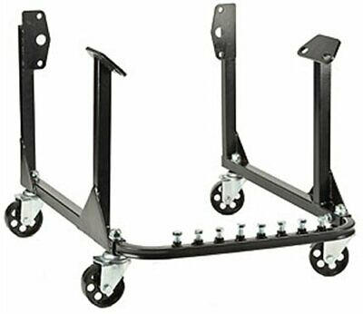 New Engine Cradle Stand Bbc Chevy Sbc Chevy V8 With Cast Iron Wheels Black