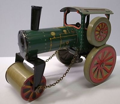 PRE-WAR INGAP ITALY TIN TOY STEAM ROLLER WIND-UP.EXCELLENT CONDITION.
