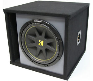 KICKER 15 INCHES VENTED SUB BOX ENCLOSURE LOADED WITH C15 SINGLE SUBWOOFER NEW