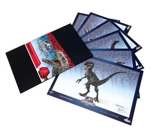"JURASSIC WORLD  ""DINOSAURS"" Lithographic Print Set Tyrannasaurus Rex NEW SEALED"
