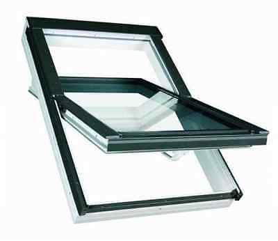 Kunststoff Dachfenster TLP 78x118 + Eindeckrahmen + ROLLO - Konzern FAKRO