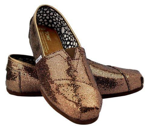 73215a3b82b Gold Glitter Toms  Clothing