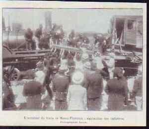 1900 -- ACCIDENT DU TREAIN ROME FLORENCE Z946 - France - 1900 -- ACCIDENT DU TREAIN ROME FLORENCE Z946 il ne s'agit pas d'une carte postale , mais d'un beau document paru dans la rare ILLUSTRATION EN 1900 le document GARANTI D'EPOQUE est en tres bon état et présenté sur carton d'encadrement format 1 - France