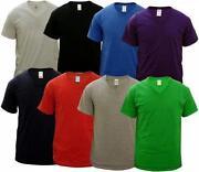Mens V Neck Cotton T Shirts