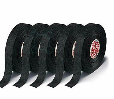 5 Rolls Tesa Black Fuzzy Fleece Interior Wire Loom Harness Tape For Vw Audi Bmw