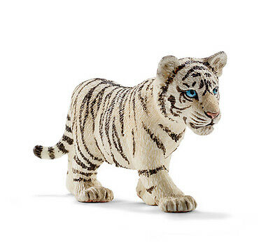 Schleich 14732 White Tiger Cub Walking Wild Animal Toy Model 2015 - NIP